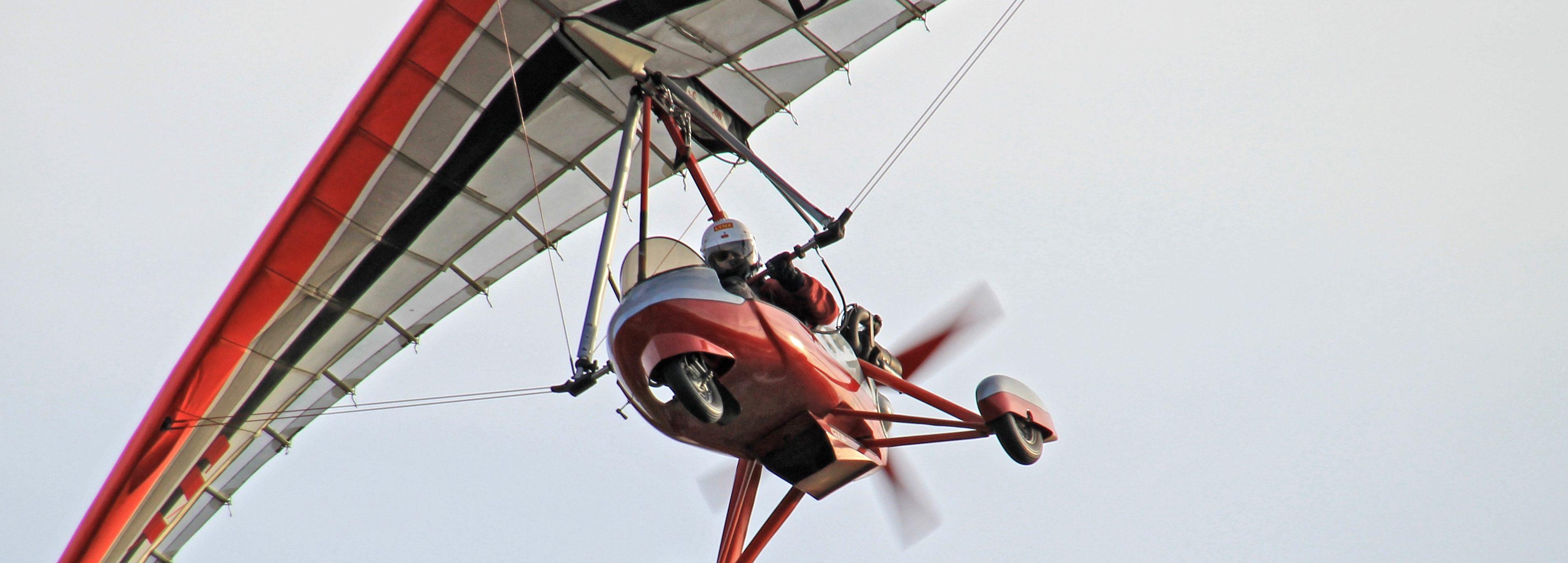 Trike von unten im Flug