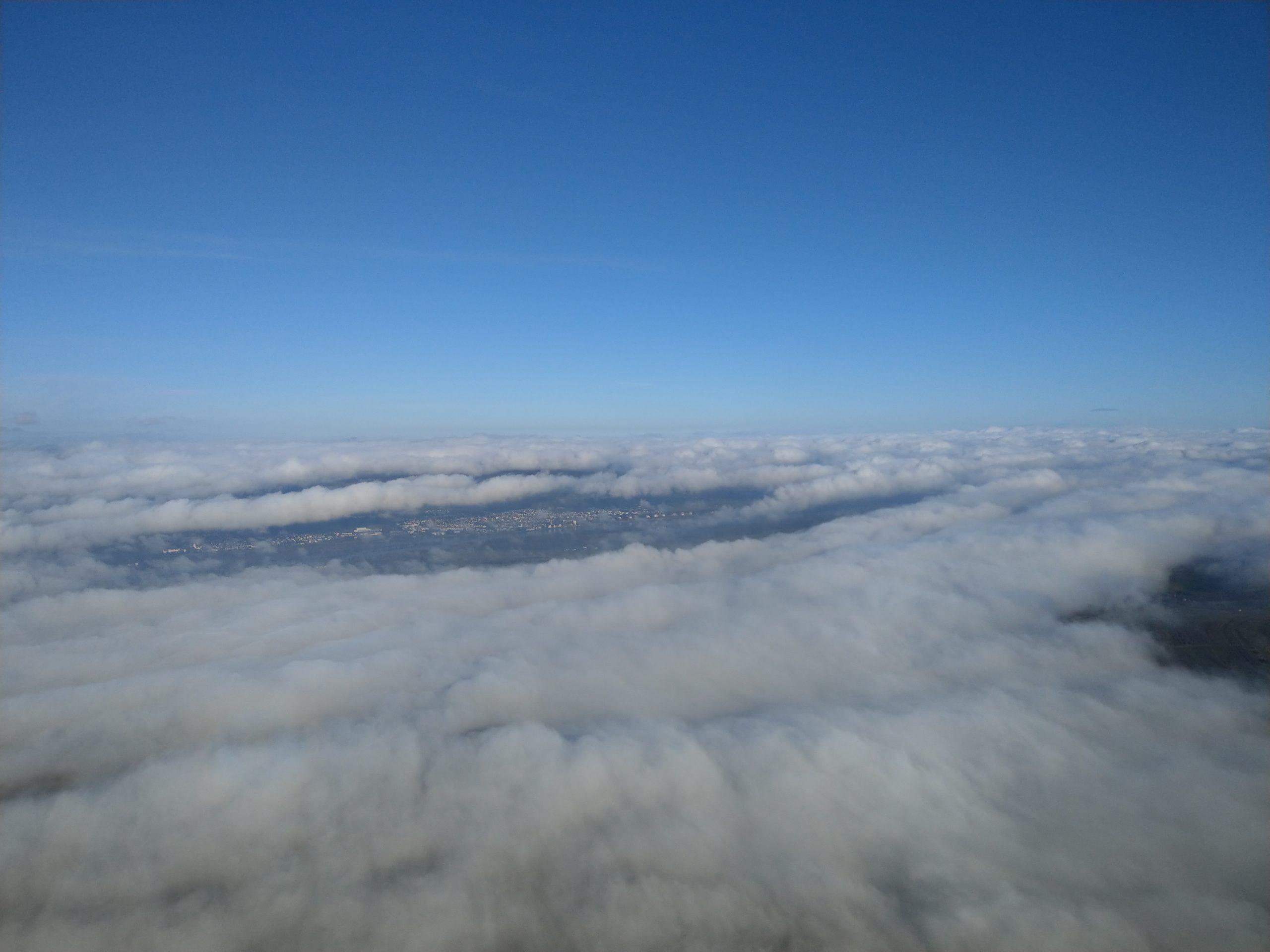Bodennebel Blick von Mainz nach Wiesbaden